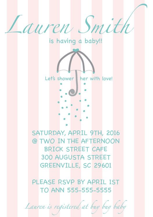 Baby shower invitation pink and white stripes shower the mom to be baby shower invitation pink and white stripes shower the mom to be yellow april showersbaby filmwisefo