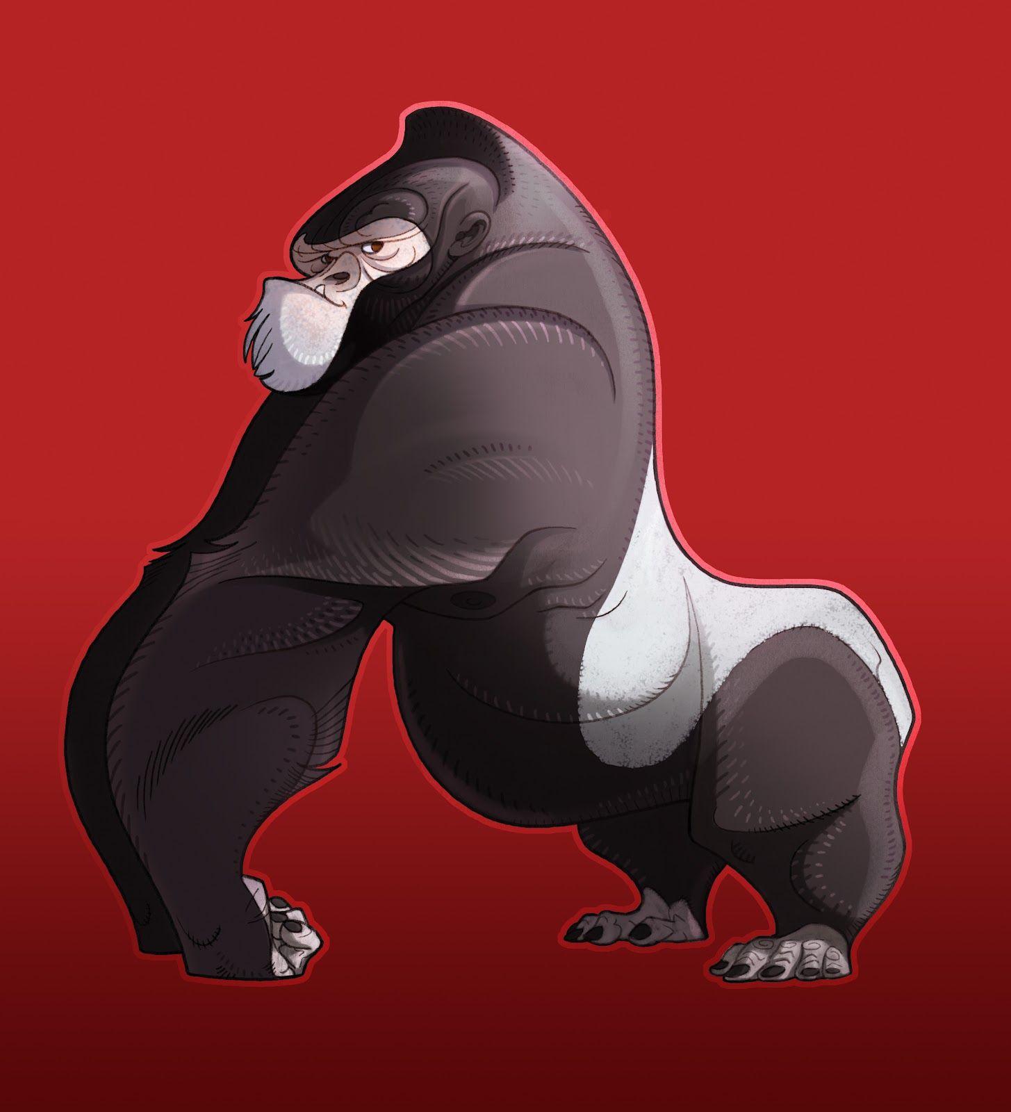 Silverback Ape Cartoon Photos Gorilla For Children S Book