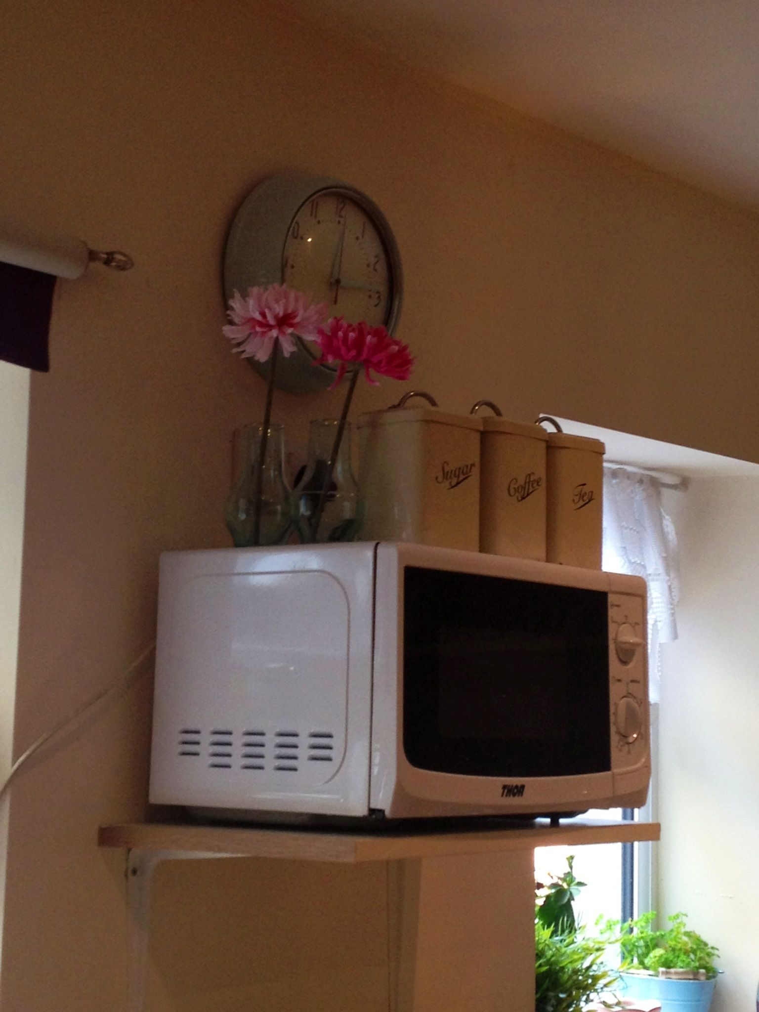 Use Your Walls Put Your Microwave Up On A Shelf Though Not Too High So You Can Still Use