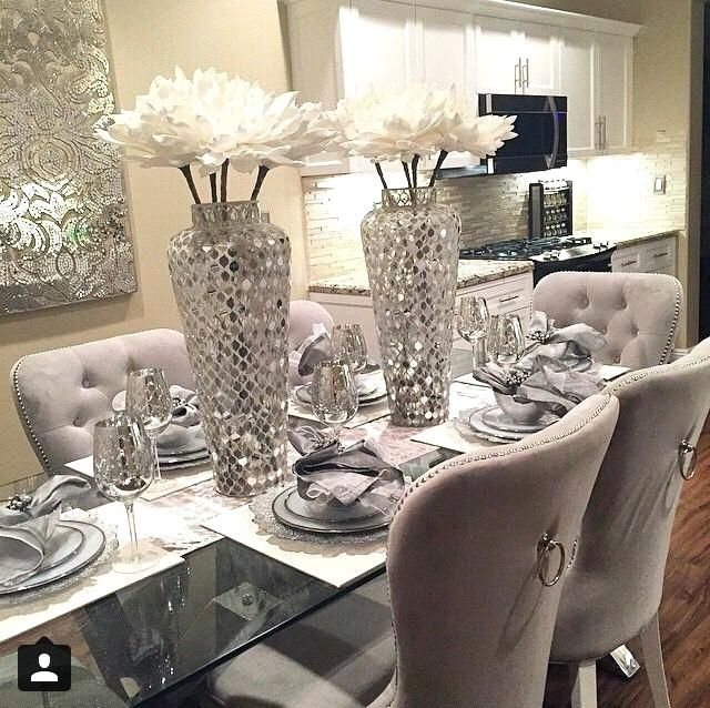 Dinner Table Centerpiece Full Size Of Dining Table Decor Ideas Glass Chairs Centerpieces P Dining Room Design Dining Room Table Centerpieces Dinning Room Decor