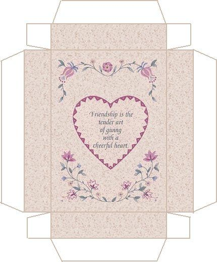 Friendship box template to print Craft Ideas Pinterest Box - friendship card template