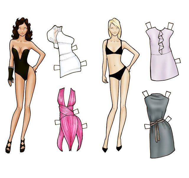 Paper Doll Doll hair, Dolls and Paper doll template - paper doll template