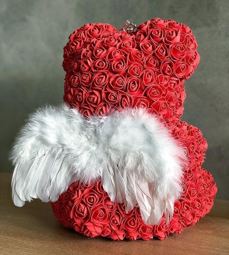 Rose Bear Luxury Rose Teddy Bear Forever Rose Teddy Rose Bear Flower Bear In 2020 Rose Crafts Diy Valentines Gifts Forever Rose