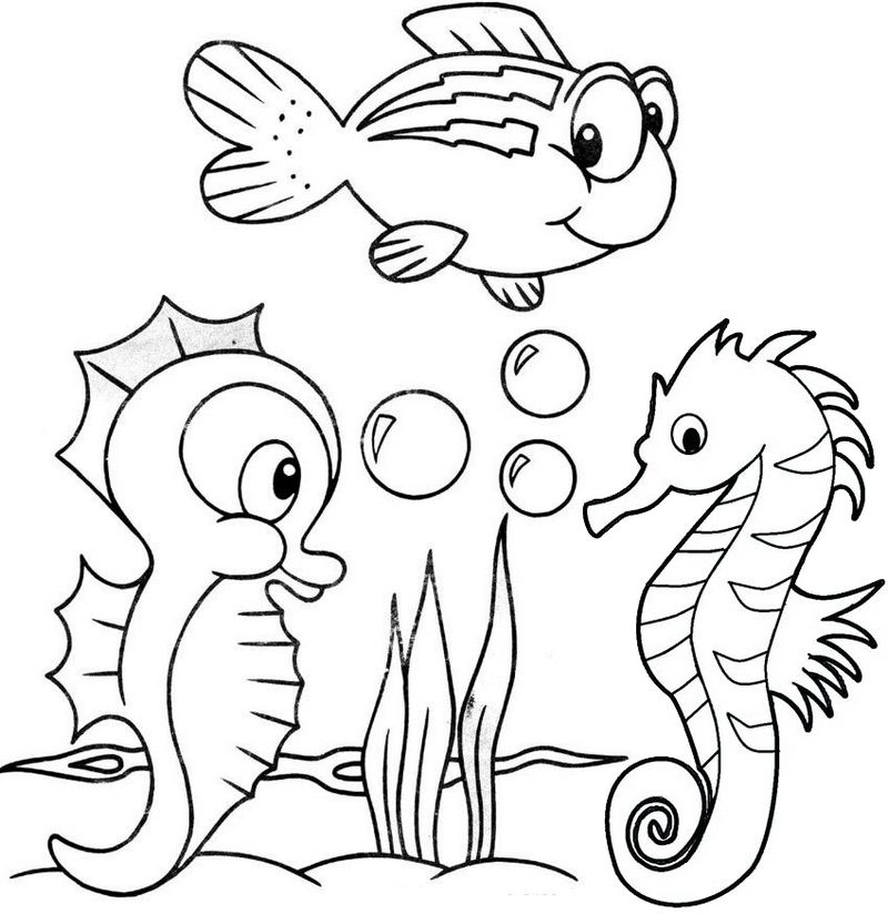 Do You Know A Little One Who Loves The Sea Creatures Let Them Color All Baby Seahorses In T Horse Coloring Pages Detailed Coloring Pages Animal Coloring Pages