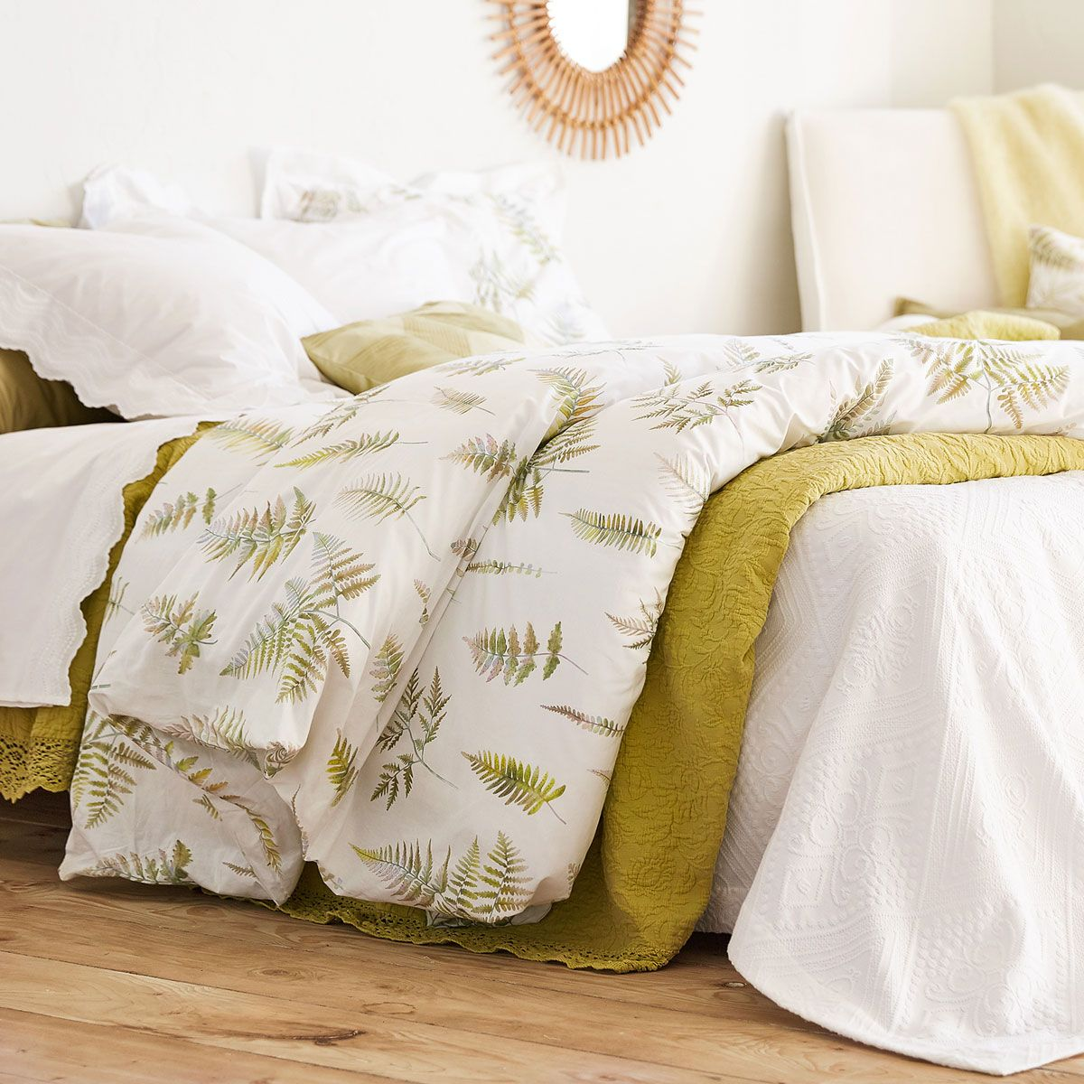 Copripiumino Zara Home.Immagine 5 Del Prodotto Copripiumino Stampa Felci Duvet Covers