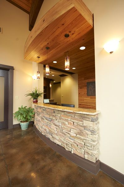 Reception Desk - Chase Lake Family Dentistry   Reception Spaces ...