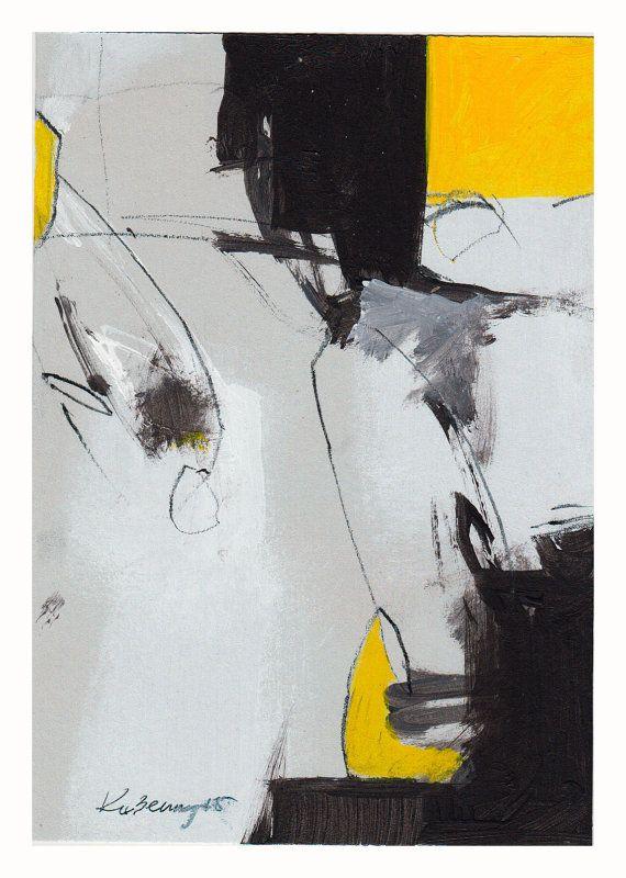 Resumen negro amarillo abstracto abstracto original lineal