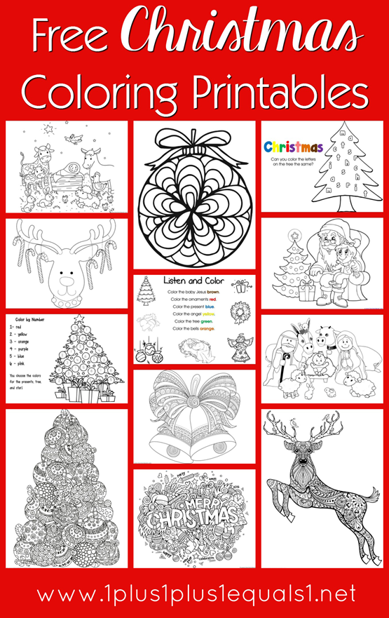 Free Christmas Coloring Printables for Kids and Adults | CoLoRinG ...