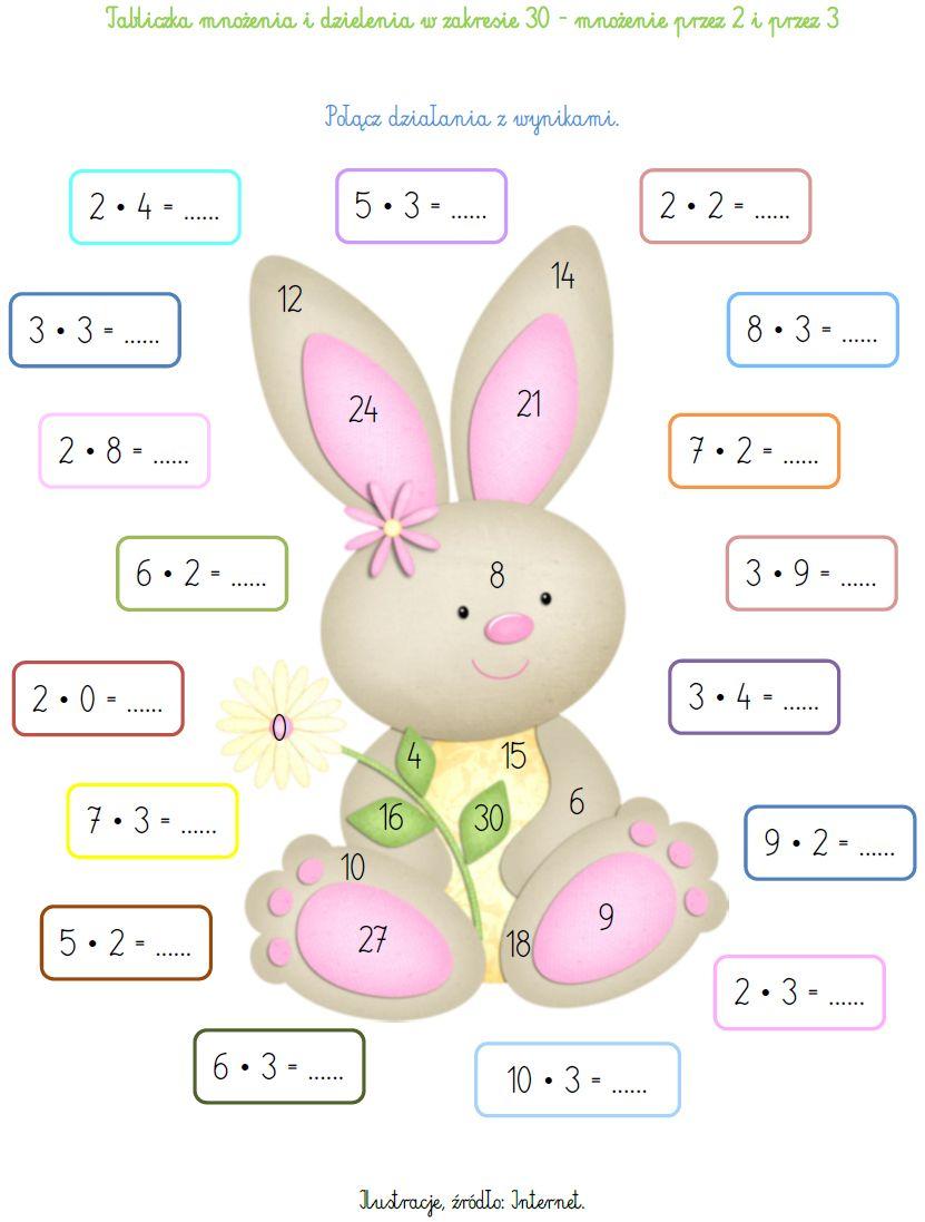 Blog Edukacyjny Dla Dzieci Tabliczka Mnozenia I Dzielenia W Zakresie 30 Mnozenie Przez 2 I Pr Kids Math Worksheets Math For Kids First Grade Math Worksheets