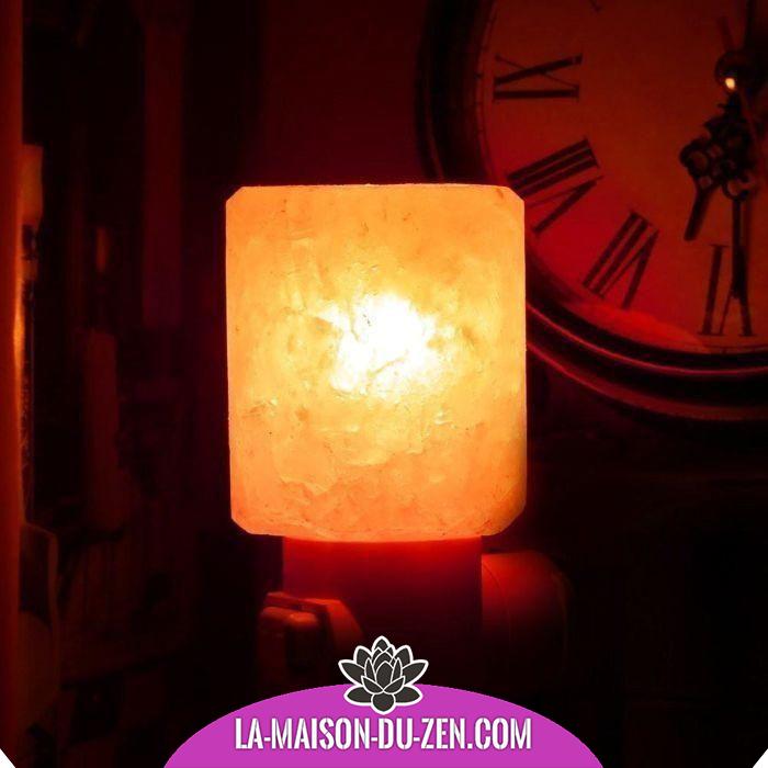 Magnifique Lampe de Nuit en Cristal de Sel Naturel de l
