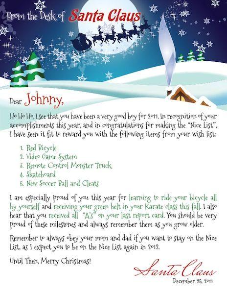 Santa Letter Template   Rowen    Santa Letter