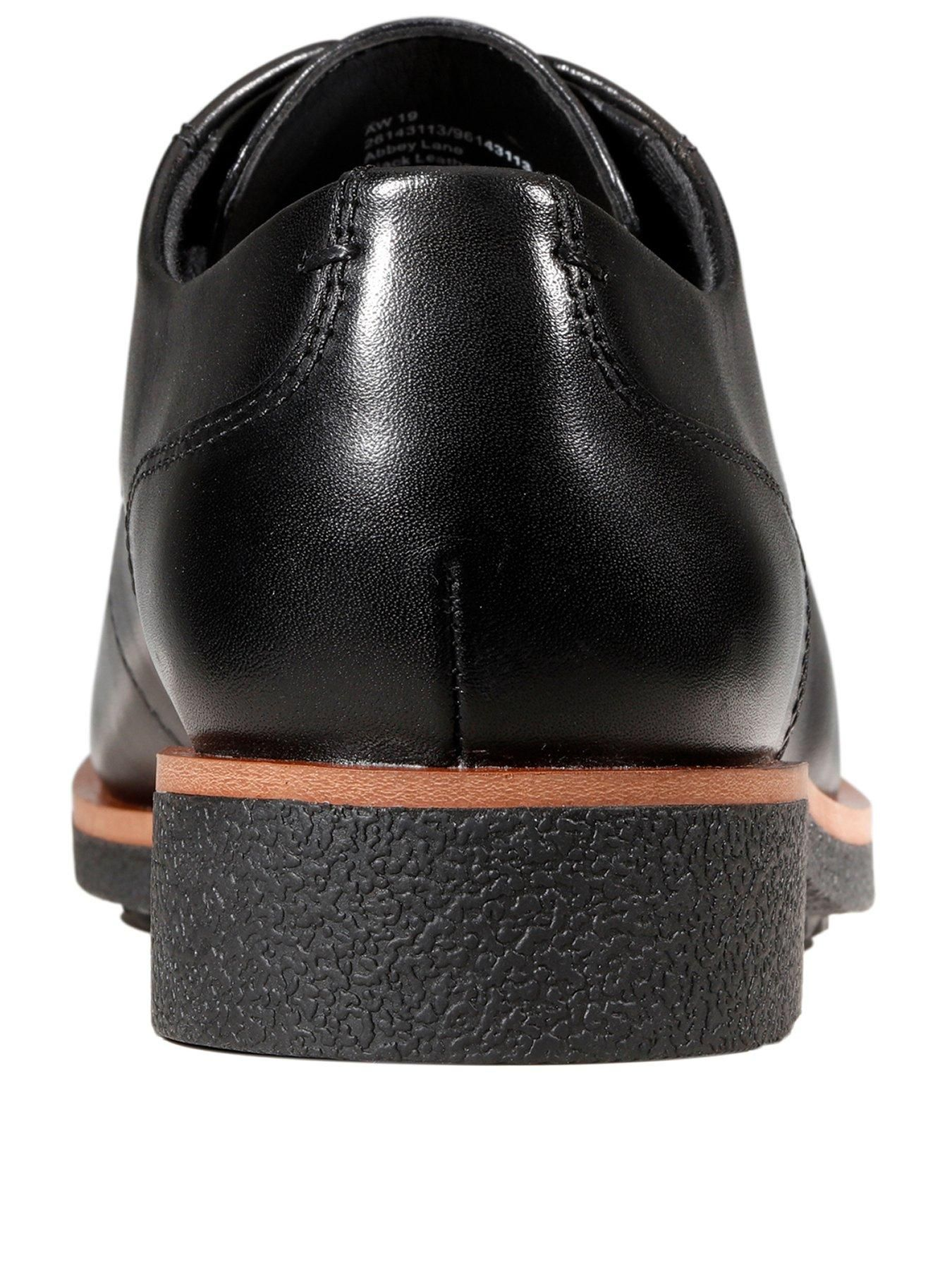 Clarks Griffin Lane Brogues, Black Leather, Size 9, Women