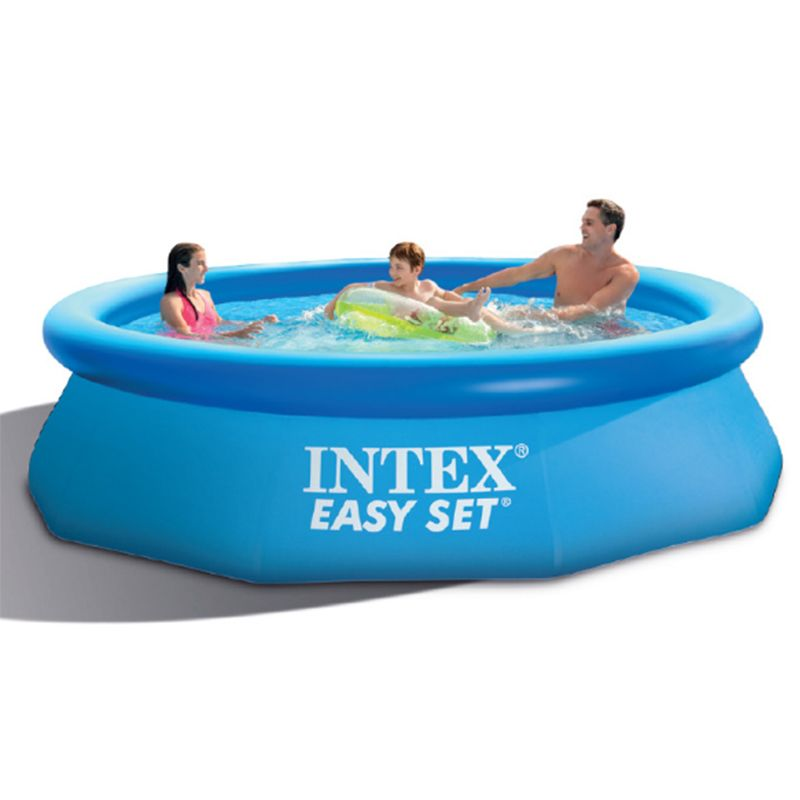 Intex Easy Set Inflatable Above Ground Swimming Pool For Kids And Adults Get An Air Pump In 2020 Easy Set Pools Inflatable Swimming Pool Intex