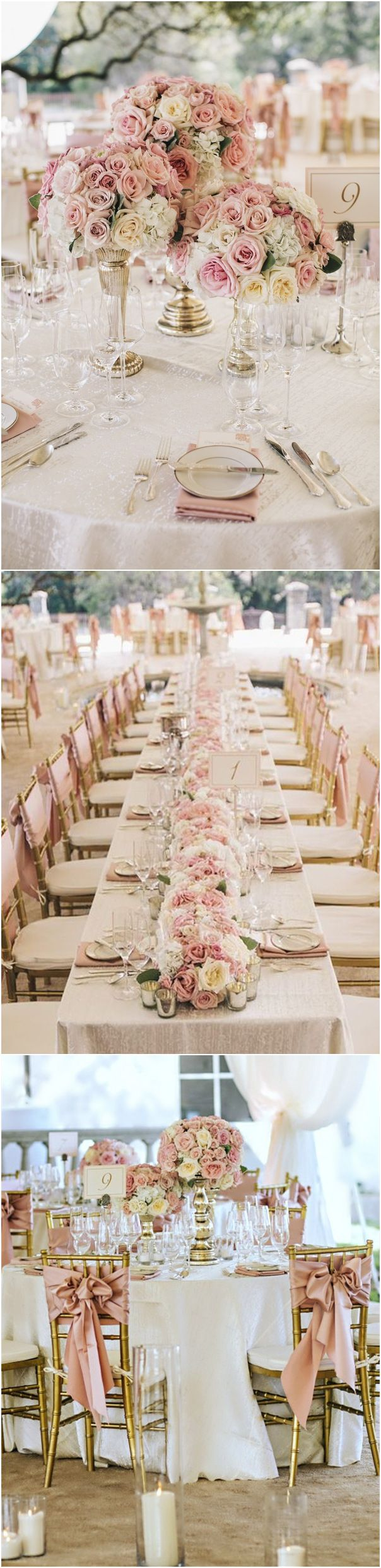 White wedding decoration ideas  Trending Dusty Rose Wedding Color Ideas for   Page  of