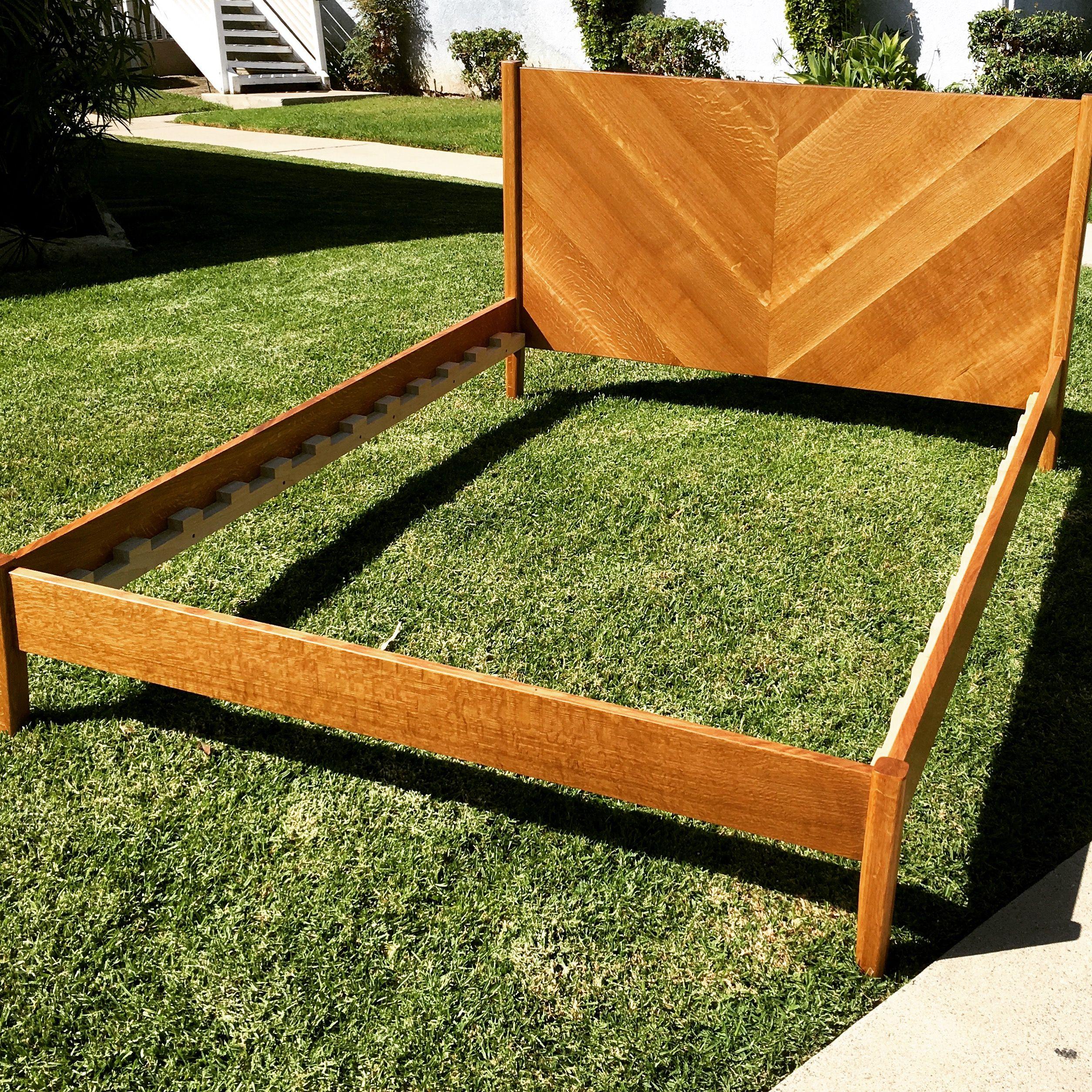 Quatersawn white oak bed frame Oak bed frame, Furniture