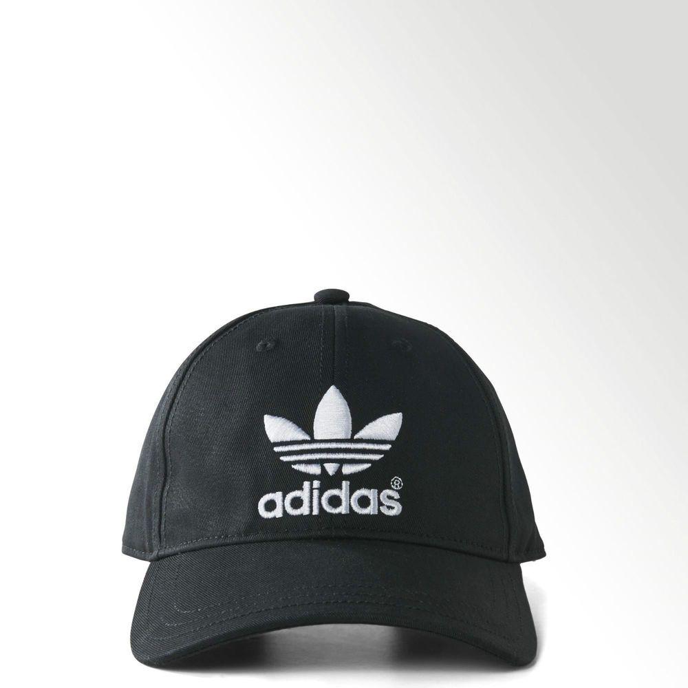 New  Adidas Originals Black Classic Trefoil Baseball Cap - hat ... facdeb30f75