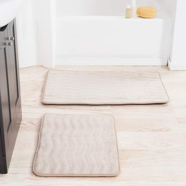 Portsmouth Home 2 Piece Memory Foam Bath Mat Set Bath Mat Sets