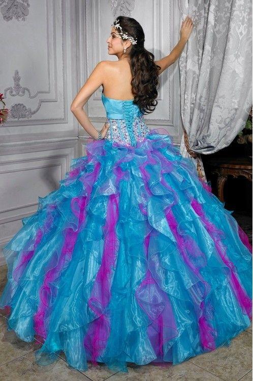 pink purple and blue wedding | plus size wedding dresses , vintage ...