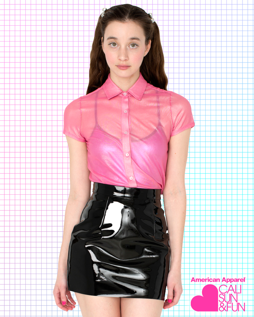 ca932e28cf9a2e Black vinyl mini-skirt by American Apparel. Why pay full price when you can  make this yourself with a single yard of material and a little bit of work