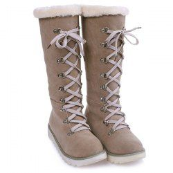 SHARE & Get it FREE | Lace Up Suede Mid-Calf BootsFor Fashion Lovers only:80,000+ Items • FREE SHIPPING Join Nastydress: Get YOUR $50 NOW!