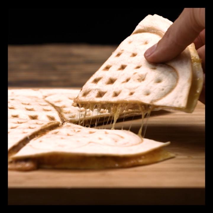Photo of Waffle iron quesadilla