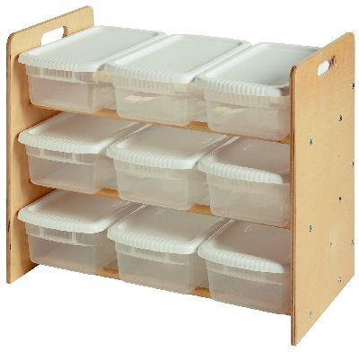Little Colorado Nine Bin Toy Organizer 9 Compartment Cubby Finish Natural Lacquer