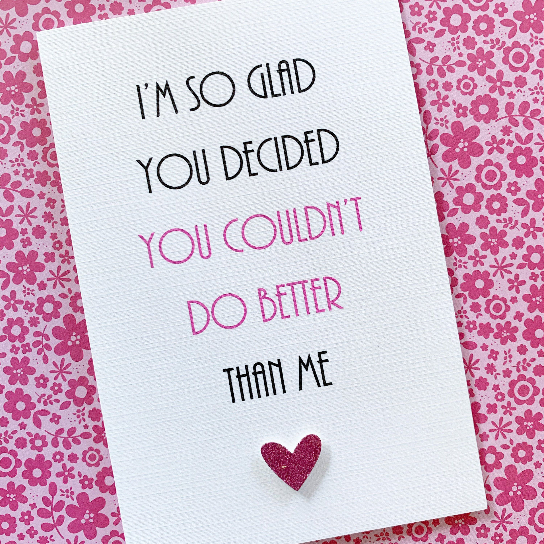 Funny Valentines Card Boyfriend Girlfriend Husband Wife