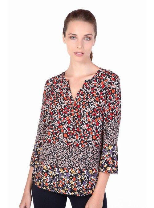 Blusa Estampado Floral Combinado Compra En Julio Com Grupojuliomexico Moda Blusas Bonitas Ropa