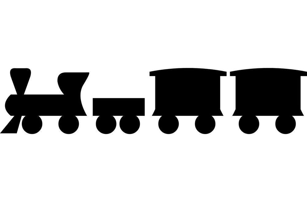 Childrens Toy Train Silhouette Vinyl Wall Art Sticker Boys Kids - How to make vinyl wall decals with silhouette