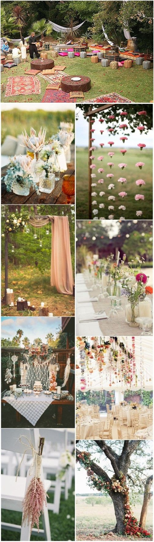 20+ gorgeous boho wedding décor ideas on pinterest | wedding