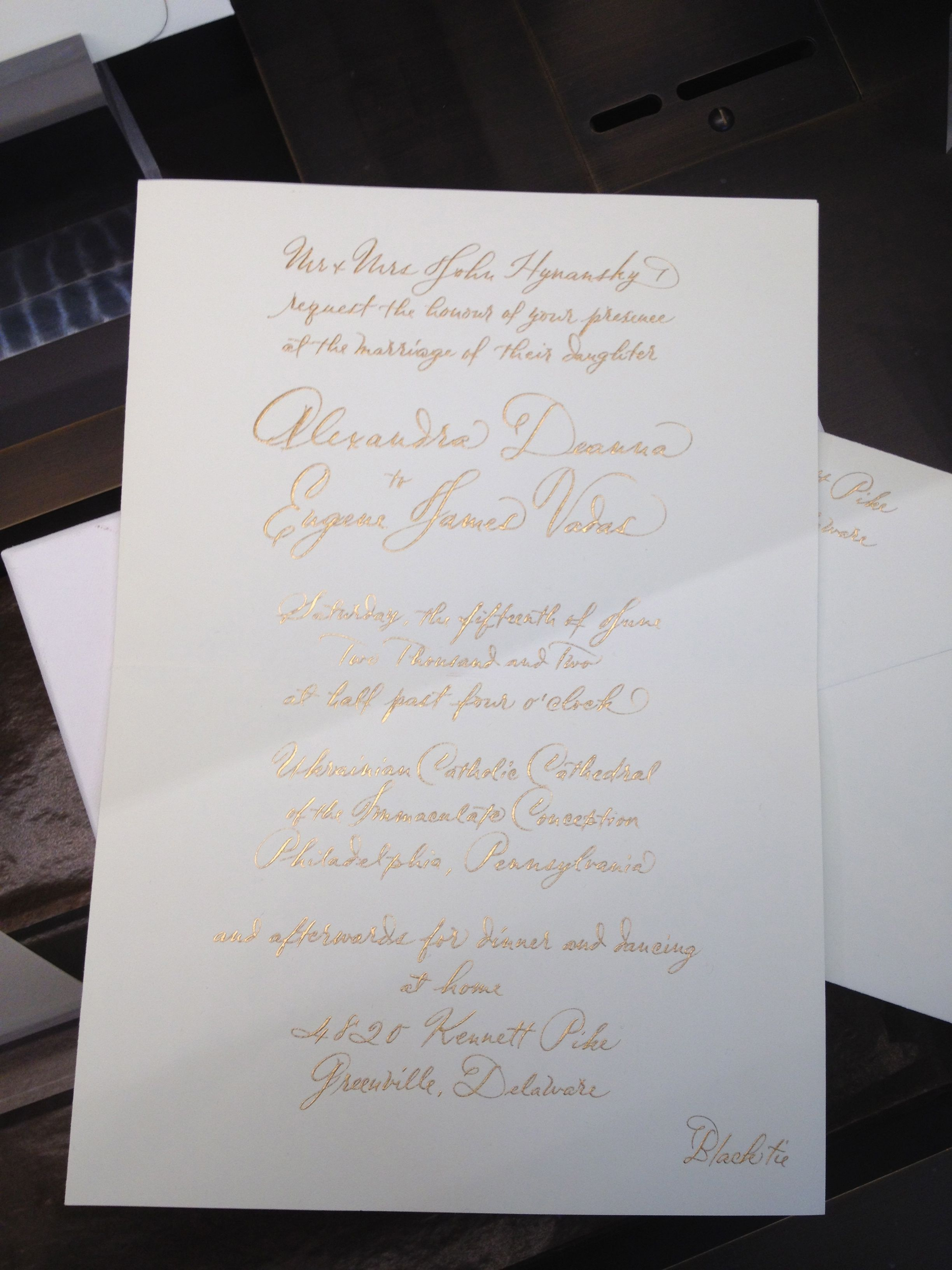 white and gold wedding invitations%0A Wedding