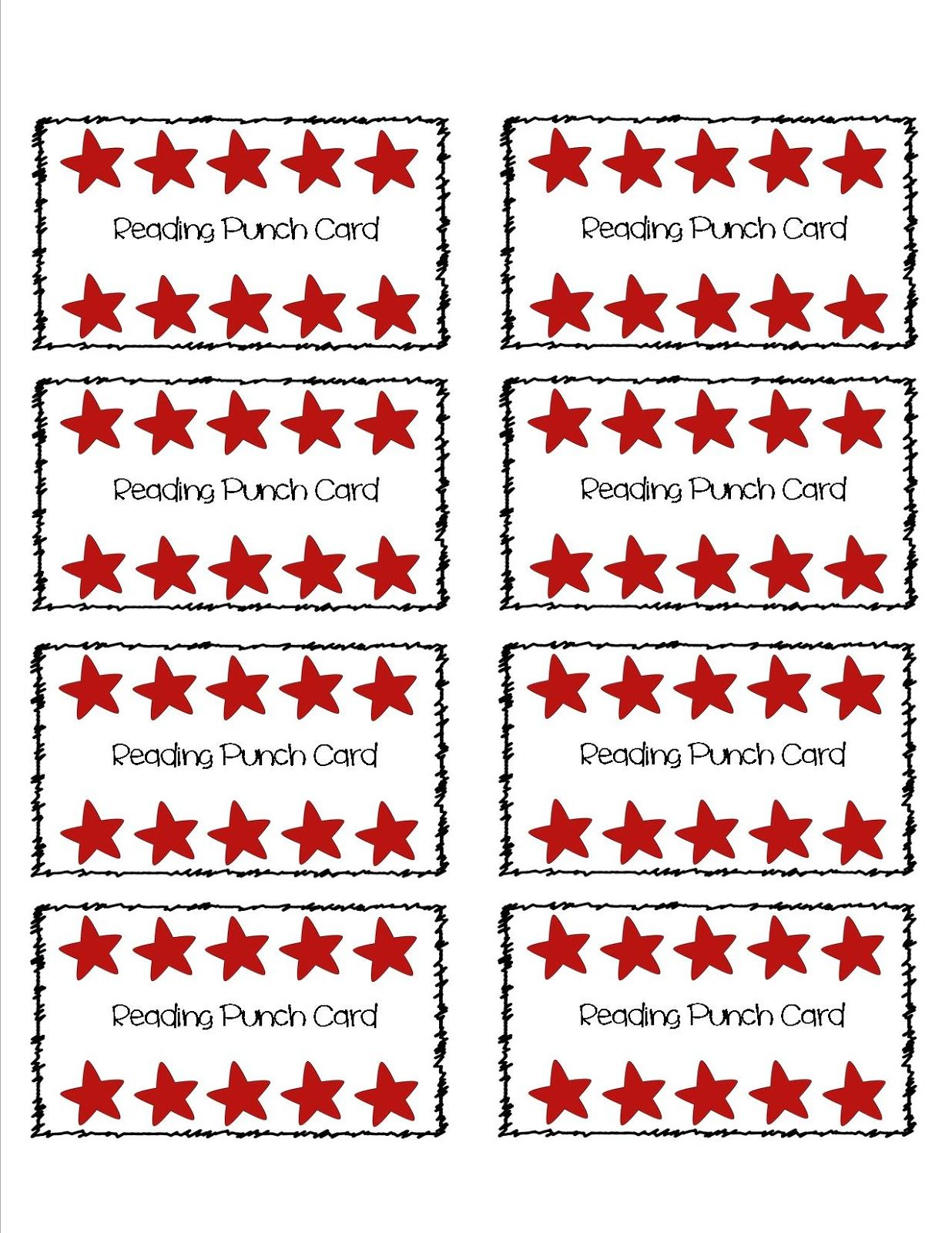 Keeping It Core Punch Cards And 2 Posts In 1 Day Giveaway Behavior Punch Cards Punch Cards Card Templates Free