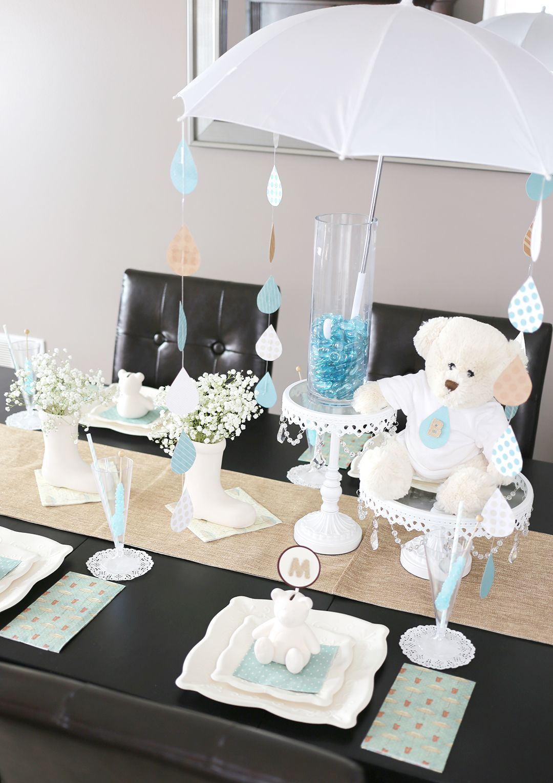 Let It Rain Baby Shower Decor A