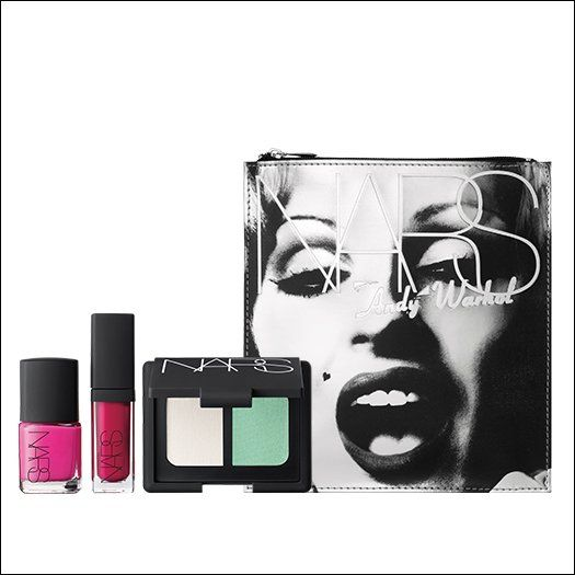 The ultimate blond bombshell and Andy Warhol's greatest actress, Candy Darling thought beauty was a duty, and worked harder at it than anyone. NARS commemorates Candy's legendary look with a silver deluxe cosmetics bag filled with tools for making your mark and doing your beauty duty.
