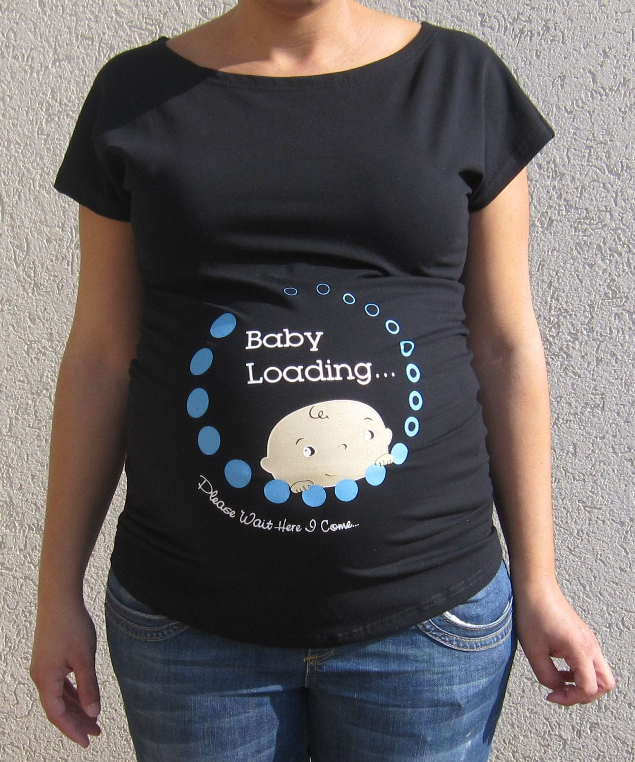 5e799a082ec83 Funny 'Baby Loading' Maternity Shirts for Cool Moms | Robin Williams ...