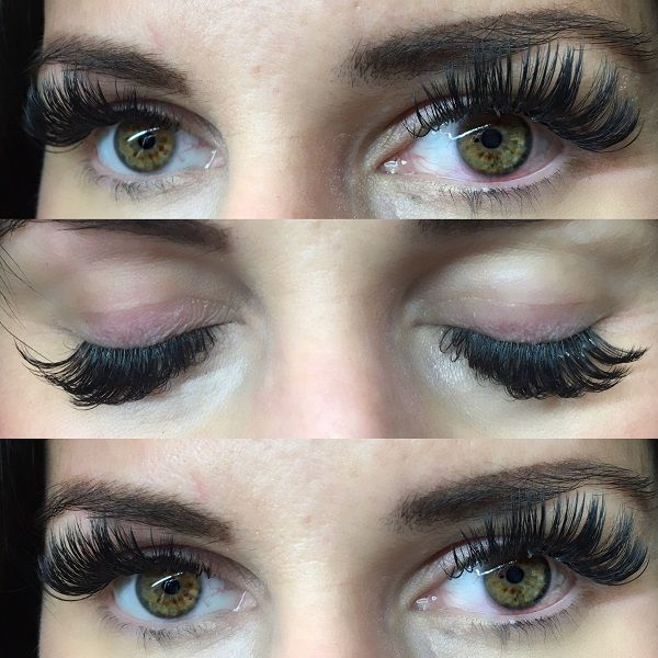 Volume Eyelashes Extension Technique Applied At Chicago