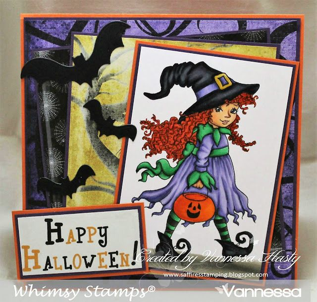 Saffire\u0027s Stamping Whimsy Stamps New Release - Halloween Witchy