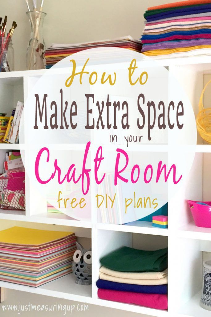 How To Build A Storage Filled Craft Corner Diy Craft Room Storage Small Craft Rooms Diy Craft Room