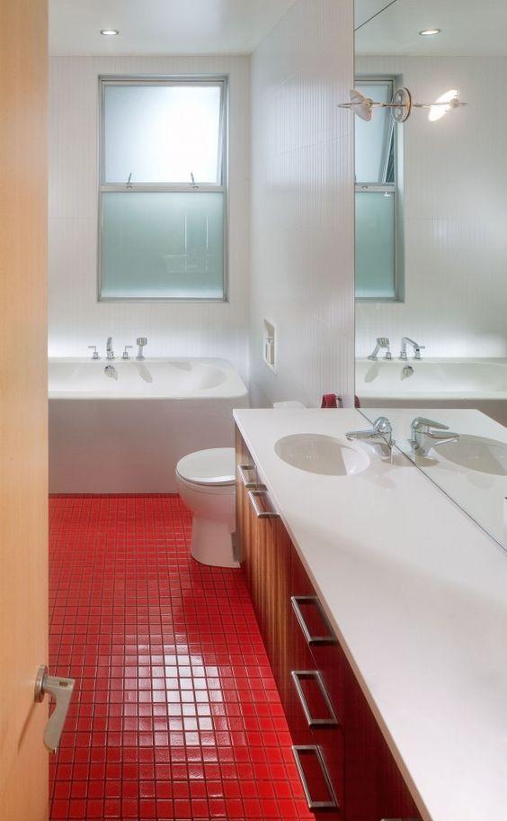 Pin de Artizan Mosaic en ¡Haz tu baño color rojo ...