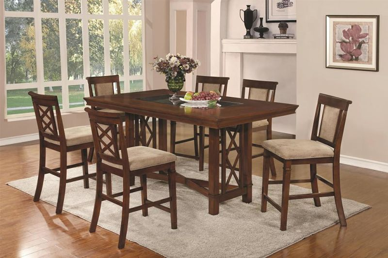 pembrook counter height dining room set with inset glass top rh pinterest com