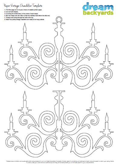 Kronleuchter 2 Diy Re Cardboard Chandelier Paper Baroque Cutting