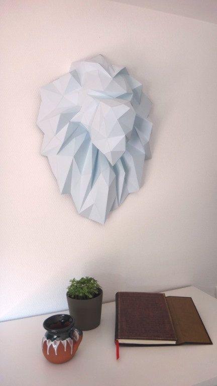 Favori Faux trophy Lion, Lion head made DIY paper Sculpaper present a  DT07