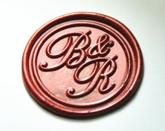 Personalized 2 Initials Monogram Wax Seal Stamp Double Sealing Wedding Invitation Seals Envelop