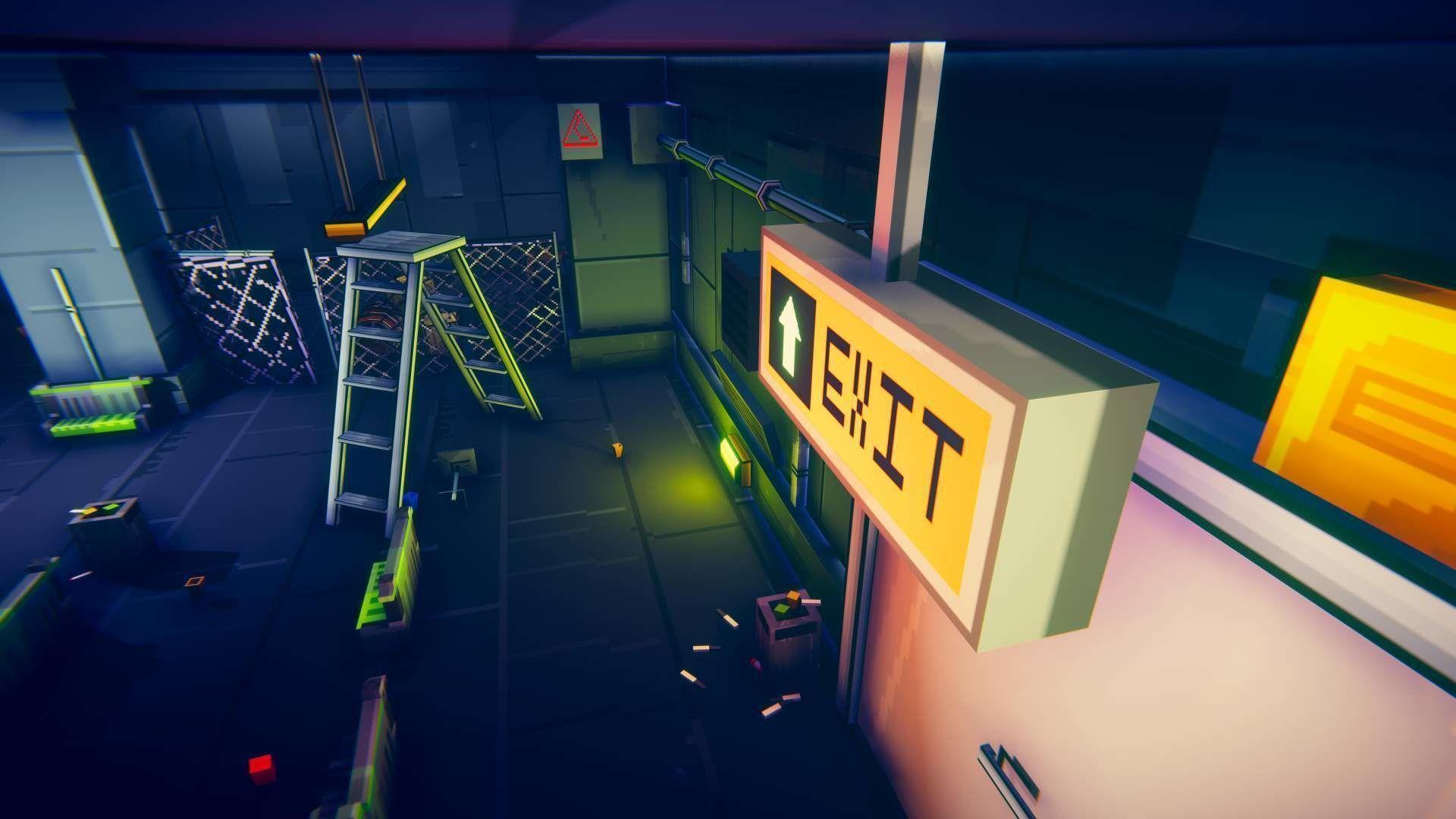 3D PixelArt Underground Subway Metro Station level