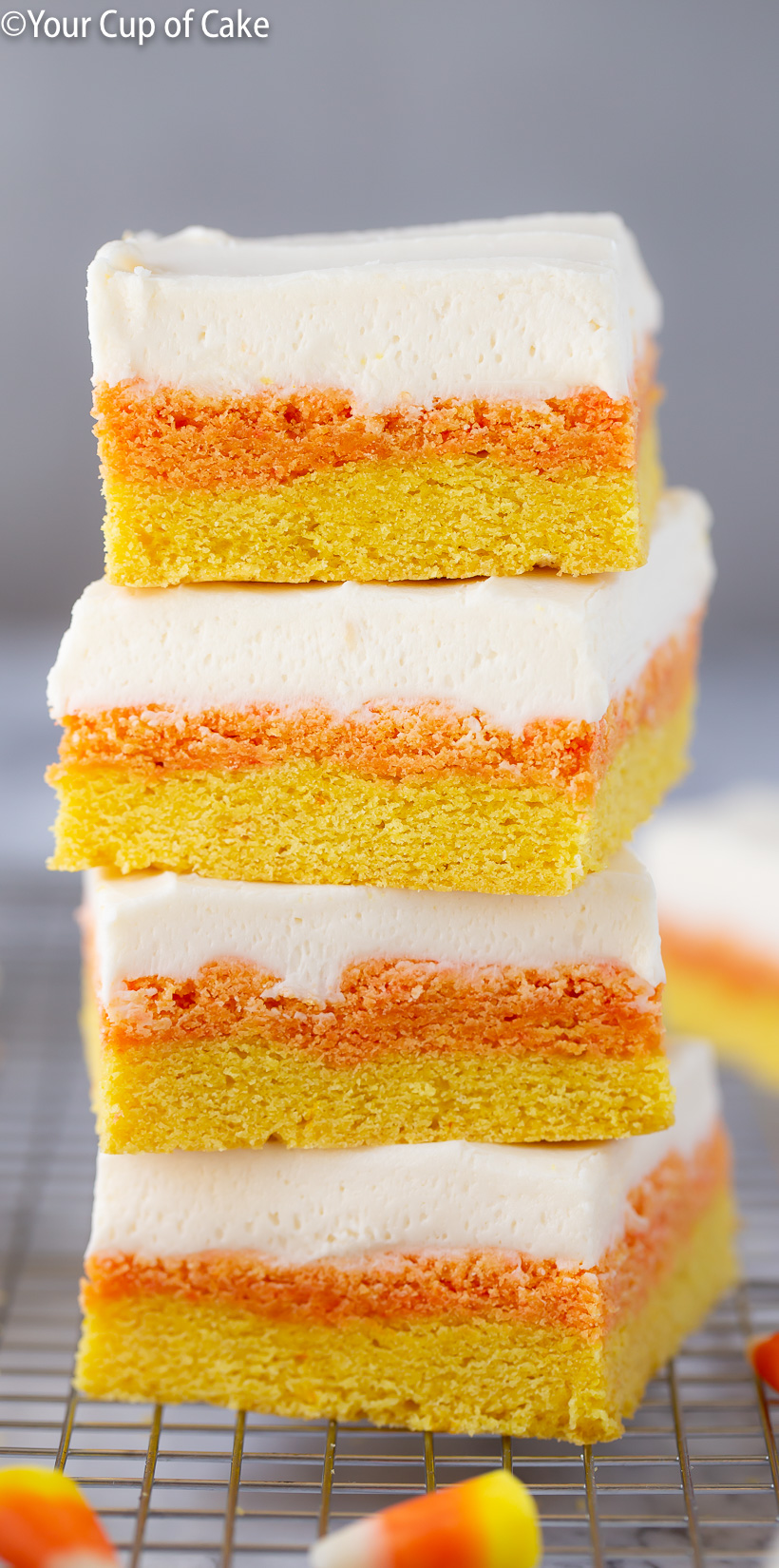 Candy Corn Sugar Cookie Bars #halloweensugarcookies