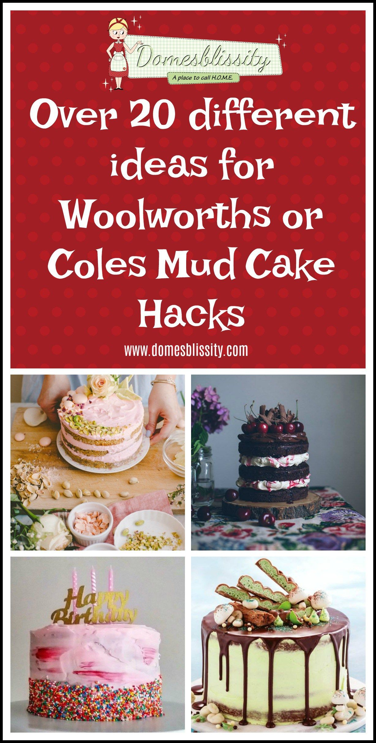 woolworths or coles mud cake hacks over 20 different ideas rh pinterest com