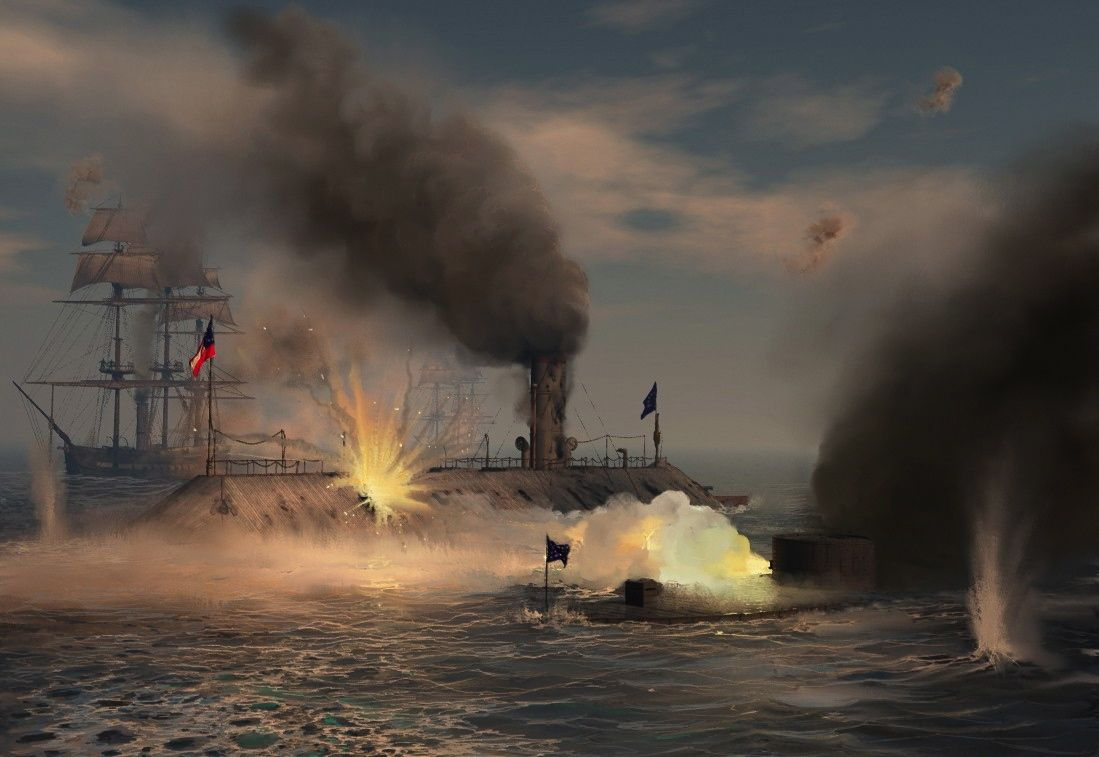 An introduction to the hampton roads the battle of the ironclads