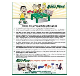 Frugal Freebies Com In This Robo Pong Rules Of Ping Pong Poster They Have Summarized Some Of The Most Often Misunderstood Rul Tennis Rules Table Tennis Tennis