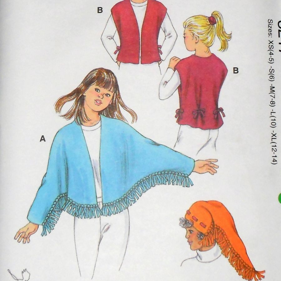 Beyond The Fringe Mini Hat Pins: Quick No Sew Fleece Pattern - Kwik Sew 3217