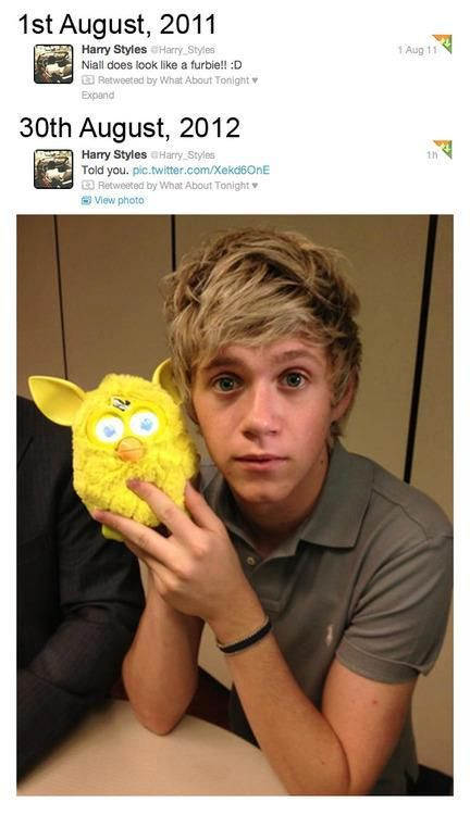 my baby and his ferbie. I seriously died of cuteness when I first saw this.
